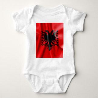 Albanien-Flaggen-Baby-Jersey-Bodysuit Babybody