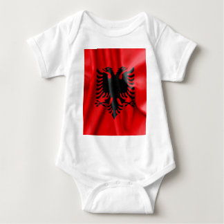 Albanien-Flaggen-Baby-Jersey-Bodysuit Tshirt