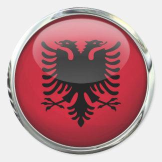 Albanien-Flaggen-Flaggen-Glasball Stickers