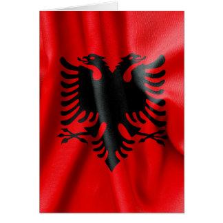 Albanien-Flaggen-Gruß-Karte Karte