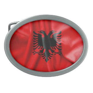 Albanien-Flaggen-ovale Gürtelschnalle