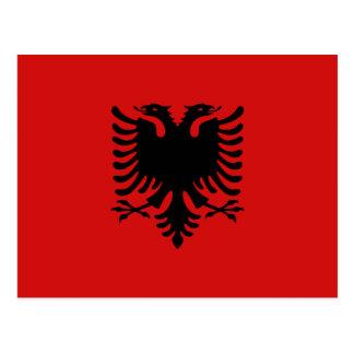 Albanien-Flaggen-Postkarte Postkarte