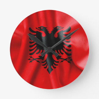 Albanien-Flaggen-Wanduhr Runde Wanduhr