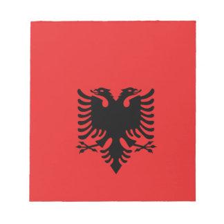 Albanien ganz über Entwurf Notizblock