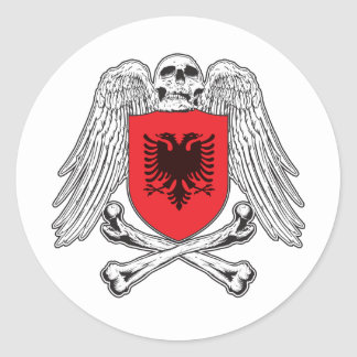 Albanien-gekreuzte Knochen Aufkleber