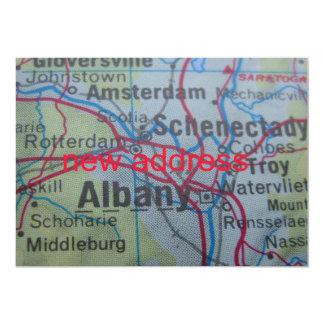 Albanien haben wir neue Adressen-Mitteilung bewegt 12,7 X 17,8 Cm Einladungskarte
