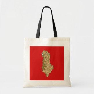 Albanien-Karten-Tasche Tragetasche