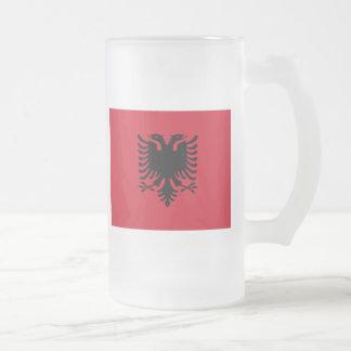 Albanien Matte Glastasse