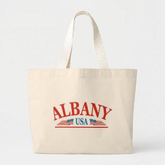 Albanien New York USA Jumbo Stoffbeutel