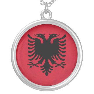Albanien-Schmutz-Flagge Personalisierte Halskette