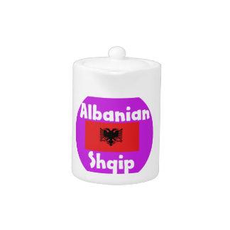 Albanien-Sprache und Flaggen-Entwurf