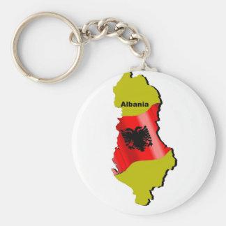 Albanien Standard Runder Schlüsselanhänger