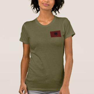 Albanienflaggen- und -karten-DK-T - Shirt