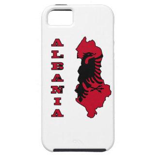 Albanische Flagge in der Kontur-Karte von Albanien iPhone 5 Etui