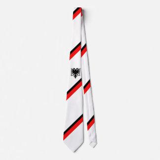 Albanische Flagge Krawatte