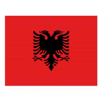 Albanische Flagge mit zwei-köpfigem Adler Postkarte