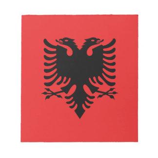 Albanische Flagge Notizblock