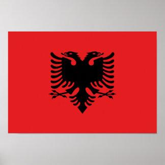 Albanische Flagge Poster