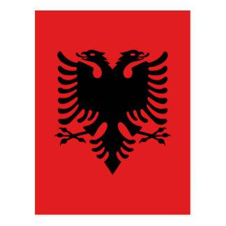 Albanische Flagge Postkarte