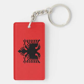 Albanische Flagge Schlüsselanhänger