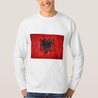 Albanische Flaggen-grafischer langer Sleeved T - T-Shirt