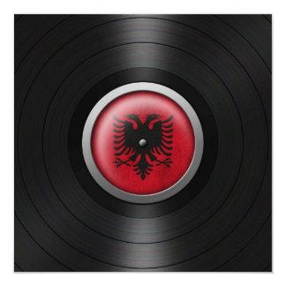 Albanische Flaggen-VinylRekordalbum-Grafik Individuelle Ankündigungen