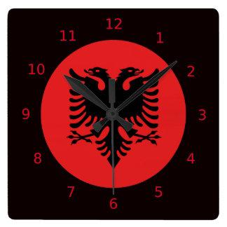 Albanische Flaggenuhren Uhr