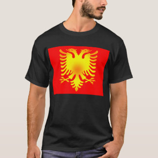 Albanische goldenes Eagle-Flagge T-Shirt