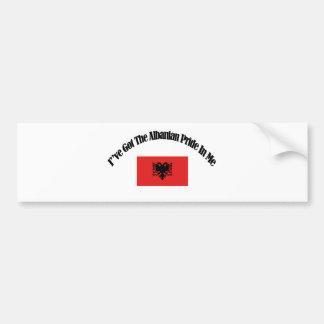 Albanische patriotische Flaggenentwürfe Autoaufkleber