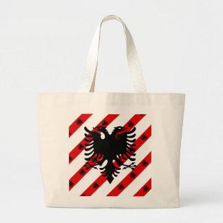Albanische Streifenflagge Jumbo Stoffbeutel