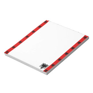 Albanische Streifenflagge Notizblock