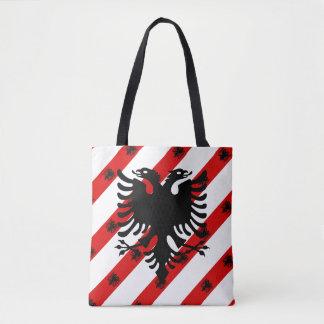 Albanische Streifenflagge Tasche