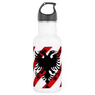 Albanische Streifenflagge Trinkflasche