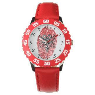 Albanische Touchfingerabdruckflagge Armbanduhr
