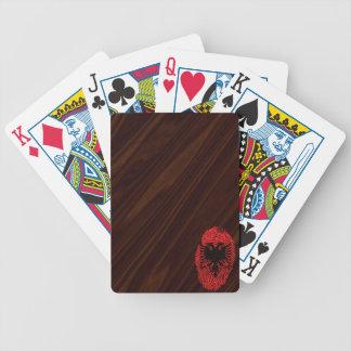 Albanische Touchfingerabdruckflagge Bicycle Spielkarten