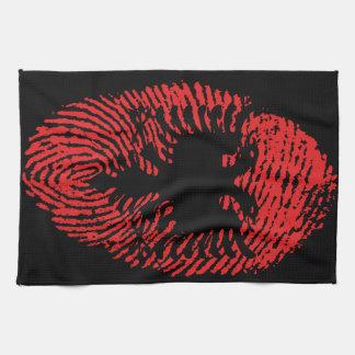 Albanische Touchfingerabdruckflagge Küchentuch