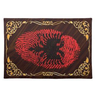 Albanische Touchfingerabdruckflagge Tischset