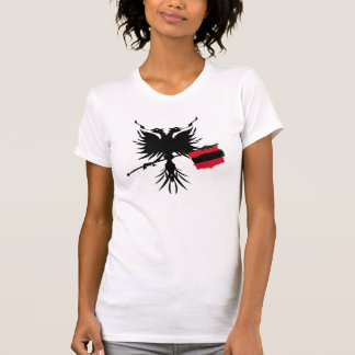 Albanischer Adler mit Flaggen-Damen-T - Shirt