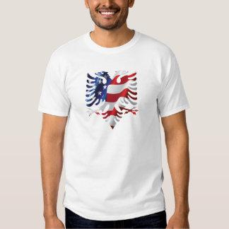 Albanischer Amerikaner Eagle Hemd