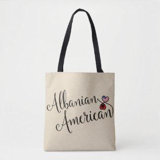 Albanischer Amerikaner entwirrte Herz-Einkaufstüte Tasche
