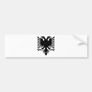 Albanischer doppelter vorangegangener Adler Autoaufkleber