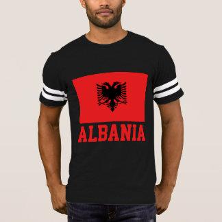 Albanischer Flaggen-Rot-Text T-Shirt