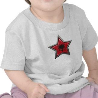 Albanischer Flaggen-Stern Hemd