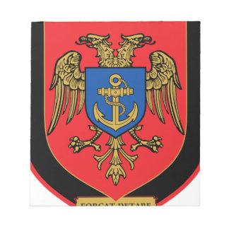 Albanischer Kriegsmarine - Forcat Detare Notizblock
