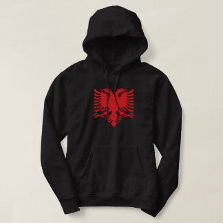 Albanisches Flaggen-Doppeltes ging Eagle im Rot Hoodie