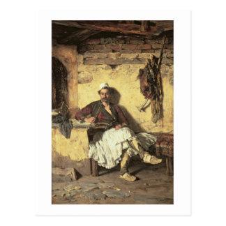 Albanisches Wachposten-Stillstehen (Arnaueti) (Öl Postkarte