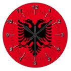 Albanisches Wappen Große Wanduhr