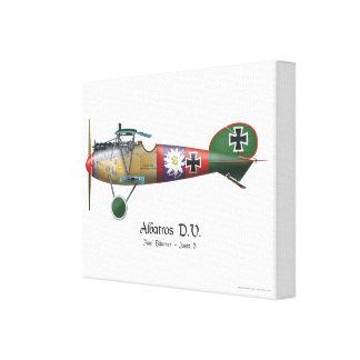 Albatros D.V. ww1 deutsches Kämpfer-Flugzeug Leinwanddruck