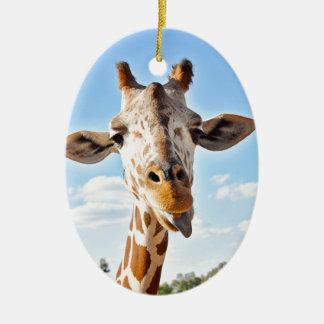 Alberne Giraffe Ovales Keramik Ornament