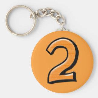 Alberne Orange Keychain der Nr. 2 Schlüsselanhänger